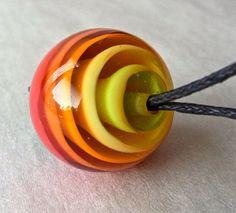 Mesmerized Handmade Lampwork Bead by Anne by AnnesGlassJewels