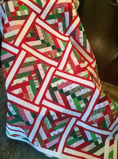 French Braid Christmas quilt