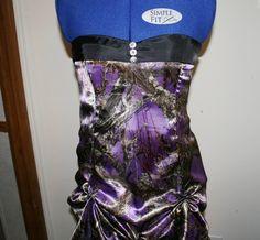 Purple Camo Prom Dress  Custom Made Prom Dress  by IDoDoodads, $225.00