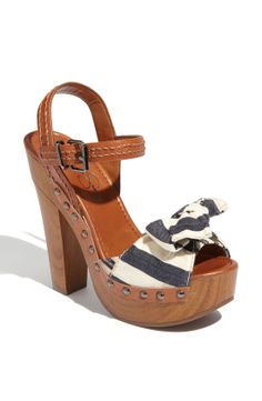 Jessica Simpson Terii Sandal in Brown (navy/ luggage) | Lyst