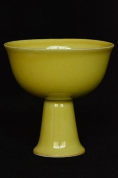 Chinese Ming Stem Cup Jiajing Mark and Period 3 1/2 x 3 1/2 in.