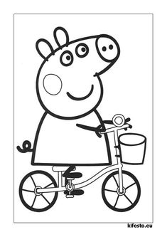 Print Peppa Pig free coloring for your creative kids. Find and print your favorite cartoon coloring pages and sheets in the Coloring Library free! Peppa Pig Coloring Pages, Cartoon Coloring Pages, Disney Coloring Pages, Free Printable Coloring Pages, Coloring Pages For Kids, Sports Coloring Pages, Quote Coloring Pages, Truck Coloring Pages, Coloring Books