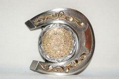 charro belt buckle plata sterling 14K pitiado piteado spurs mexican mariachi cinto by cowboy2873 on Etsy