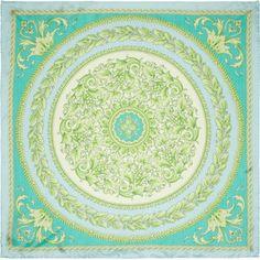 Versace Baroque-print silk-satin scarf - Polyvore