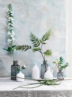 Traditional craft meets contemporary design in our small, bottle-shaped Castleford vase. Discover its hand-blown, smokey-grey glass online or in-store. Brown Glass Bottles, Small Bottles, Living Room White, Living Room Paint, Natural Wood Decor, Direct Wood Flooring, House Plants Decor, Flower Aesthetic, Grey Glass