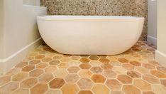 Shop Now Arto Artillo 6'' Hexagon Creme Fraiche Vintage Tile | Arto Brick | Creative Tile Hex Tile, Hexagon Tiles, Vintage Tile, How To Attract Customers, Bath Mat, Hexagons, Mosaics, Master Bath, French Country