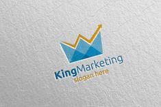 King Marketing Financial Logo 69 by denayunebgt on Vector Logo Design, Logo Design Template, Marketing Logo, Digital Marketing, Affiliate Marketing, Financial Logo, Accounting Logo, Business Logo, Icon Design