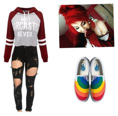 """""""Made by Camryn2"""" by ambyclark on Polyvore featuring WithChic, Killstar and Vans"""