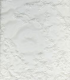 White Cherry Blossom Embroidered Organza : special occasion fabric    from Joann's for wedding veil