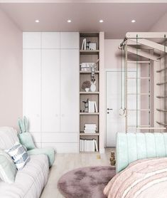 Kids Bedroom Designs, Kids Room Design, Home Bedroom, Bedroom Decor, Inside A House, Bedroom Design Inspiration, Baby Room Decor, Girl Room, Armoire