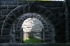 A gateway on Heart Island in the Thousand Islands