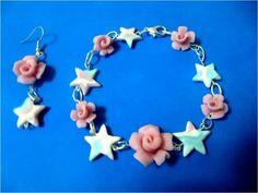 DIY♥Cea tus propios accesorios vintage de rosas dobles (aretes y anillo) - YouTube
