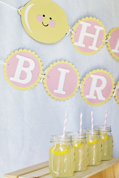 Pink Lemonade Party more great ideas for a summer party.