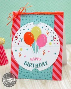 Happy Birthday Pop Up Card by Betsy Veldman for Papertrey Ink (March 2015)