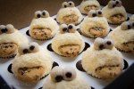Cookie Monster Cuppies in light yellow    Veri's Fairy Cakes