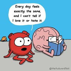 Baymax, Funny Relatable Memes, Funny Quotes, Qoutes, Life Quotes, Heart And Brain Comic, The Awkward Yeti, Funny Comic Strips, Head And Heart
