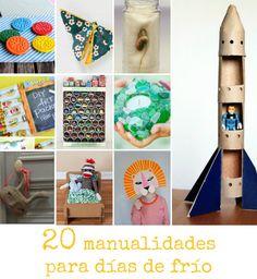20 Manualidades para hacer con niños en estos días de frío