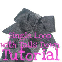 the Jocole blog: Bow - Single Loop with Tails Down