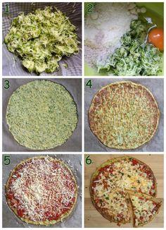 Zucchini Pizza low carb vegetarisch - low carb - Zucchini Pizza low carb vegetarisch – Low carb Rezepte – schlankmitverstand Best Picture For p - Healthy Pizza, Low Carb Pizza, Low Carb Vegetarian Recipes, Low Carb Recipes, Vegetarian Pizza, Pizza Recipes, Zucchini Pizza Crust, Menu Dieta, 200 Calories
