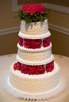 Christmas Wedding Cake Picture