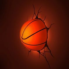 3D Wall Art Nightlight   Basketball