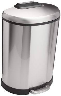 10L Basics Rectangle Soft-Close Trash Can for Narrow Spaces