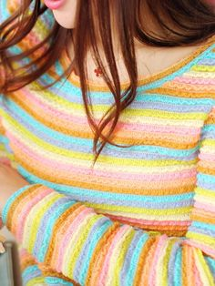 striped rainbow shirt $60 #asianicandy #fashion #japanese #indiefashion #asianfashion #kawaii #vintage