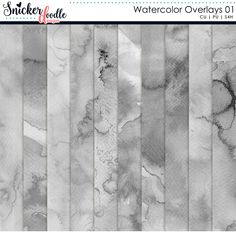 Now available! CU Watercolor Overlays 01 by Snickerdoodle Designs - add a watercolor look to your papers, elements or text with the pack of watercolor textures. No mess, no fuss.