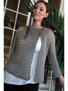 Knitting pattern for Women's Asymmetrical Lace Cardigan sweater S (M, L, XL,