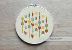 cross stitch pattern arrows arrows aztec PDF pattern by Happinesst