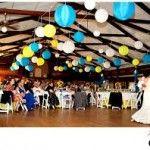 Ceiling Decor for a Wedding Reception Hanging Paper Lanterns, Chinese Paper Lanterns, Wedding Lanterns, Wedding Reception Decorations, Decor Wedding, Budget Wedding, Blue Wedding, Wedding Venues, Baltimore Wedding