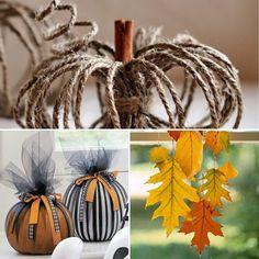 Igényes tök dekoráció Autumn Crafts, Halloween, Spooky Halloween