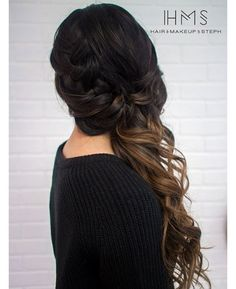 Braided side swept wedding hair ~ we ❤ this! moncheribridals.com