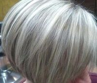 Gray highlighted hair                                                                                                                                                      More