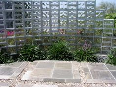 Beautiful use of glass blocks in the garden. Creates privacy and a sense of serenity.