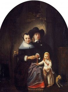 A Dutch Family Group by Nicolas Maes , mid Old Paintings, Beautiful Paintings, Pieter De Hooch, Gallery Of Modern Art, Dutch Golden Age, List Of Artists, Dutch Painters, National Portrait Gallery, Chiaroscuro