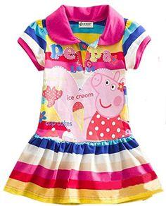 Yuting Little Girls' Summer Peppa Pig Dress,lapel Rainbow... https://www.amazon.com/dp/B00UTAWVDK/ref=cm_sw_r_pi_dp_x_zfZQyb8M3YP8G