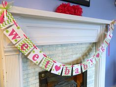 Perfect banner for all those little bundles of joy!! Cute for baby showers ,photo props and birthdays- looks great at the event and in the
