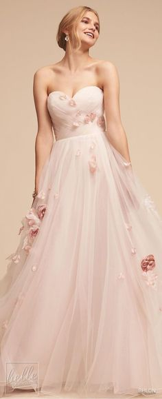 bhldn spring 2018 bridal strapless sweetheart neckine wrap over ruched bodice light embellishment romantic pink a line wedding dress mv -- BHLDN Spring 2018 Wedding Dresses super sweet Pretty Dresses, Beautiful Dresses, Bridal Dresses, Wedding Gowns, Bhldn Dresses, Pink Wedding Dresses, Backless Wedding, Tulle Wedding, Wedding Venues