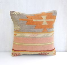 Pastel Pillow Cover Rustic decor Light pink by PillowTalkOnEtsy, $48.00