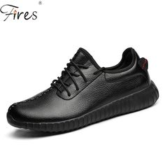 Light Running Shoes Mens Black Sports shoes Leather Sneakers Large size 37-47 3 Colors for Woman flat shoes Autumn Zapatillas