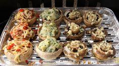 Nadziewane pieczarki, fot. Grzegorz Kozakiewicz Sauce Recipes, Bon Appetit, Stuffed Mushrooms, Food And Drink, Veggies, Appetizers, Lunch, Snacks, Cooking
