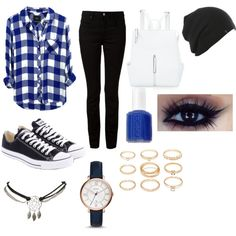 School by fuziblubunni on Polyvore featuring polyvore fashion style Rails T By Alexander Wang Converse Ashley Stewart FOSSIL Wet Seal Forever 21 Essie