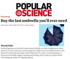 Davek in Popular Science. Invest in a canopy tough enough to deserve a lifetime warranty. Rainy Day Fund, Science And Technology, Canopy, Investing, Popular, Gift Ideas, Stuff To Buy, Most Popular, Popular Pins