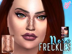 Sims 4 CC's - The Best: Nose Freckles by Jessikii