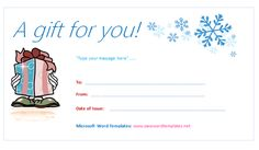 Christmas Gift Certificate Template Word Christmas Gift Certificate Template 11 Word Pdf Documents, Printable Christmas Gift Certificate Template, 5 Awesome Christmas Gift Certificate Templates To End Christmas Gift Certificate Template, Free Gift Certificate Template, Certificate Of Completion Template, Certificate Design, Gift Certificates, Microsoft Office, Restaurants For Birthdays, Hallmark Holidays, Best Christmas Gifts