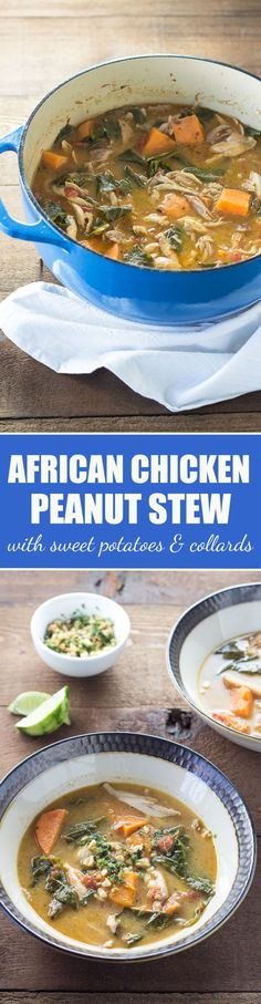 African Chicken Peanut Stew | cookingatsabrinas.com @sabrinascooking