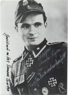 """Richard """"Remi"""" Schrijnen (24 Desember 1921 - 27 Juli 2006) Ritterkreuz (21 September 1944) : SS-Sturmmann dan Richtschütze 2./SS-Freiw.SturmBrig 6 """"Langemarck"""""""