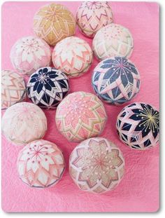 Temari embroided balls
