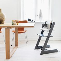 Stokke Introduces The Latest Addition To The Tripp Trapp Palette With Versatile Storm Grey T Childrens Chairs Stokke High Chair Shabby Chic Table And Chairs